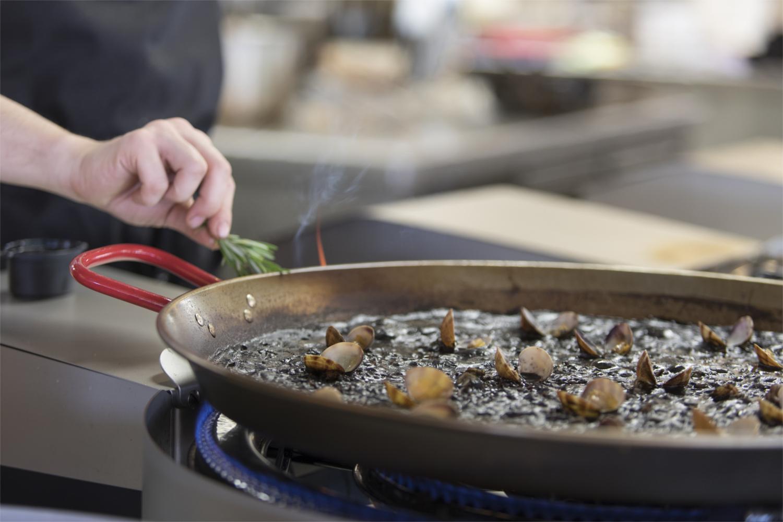 Black Rice Paella Cooking