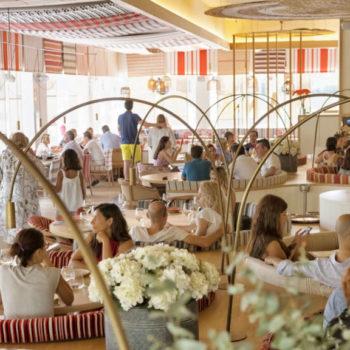 Interior of Mana 75 - paella restaurant in Barcelona