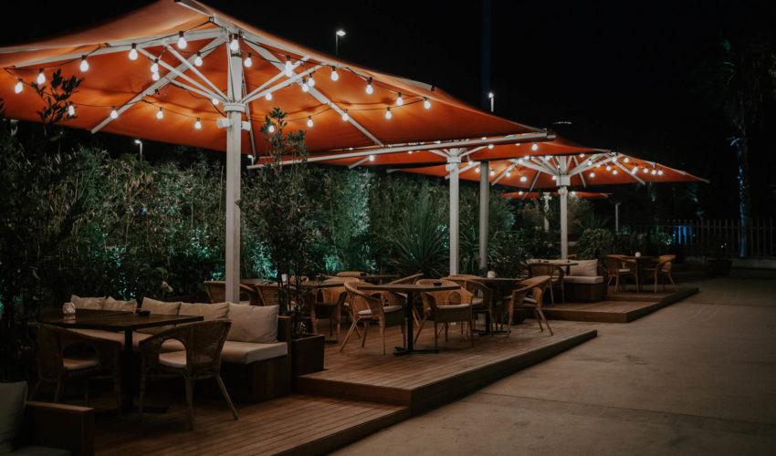 restaurante con terraza Barceloneta - Mana 75
