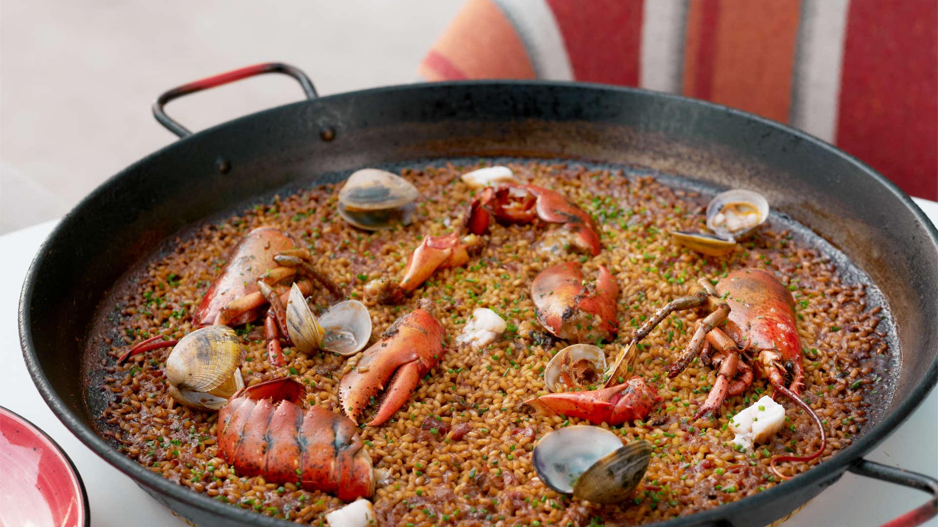 Buena paella en Barcelona Mana 75