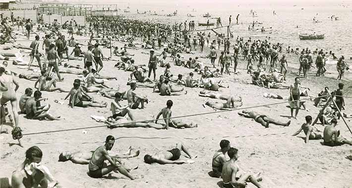 Playa de La Barceloneta - historia